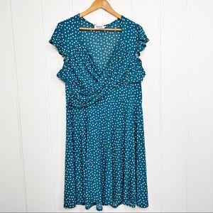 Leota Polka Dot Dress 2X Summer Dress